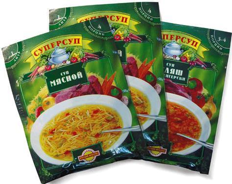 Супы из пакетов быстрого приготовления