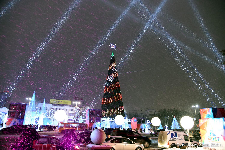 ВЕкатеринбурге прошло открытие основного ледового городка