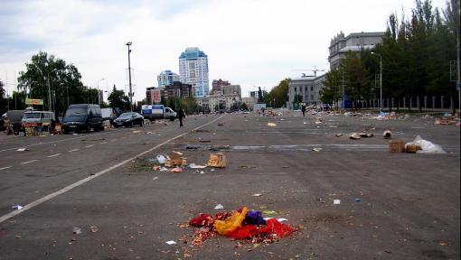 Самара, площадь им.Куйбышева после проведения выездного рынка. Фото: Новопашин С. А. 2010