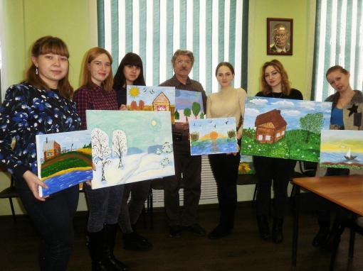 Курган: приобщаясь к миру живописного искусства. Фото: Людмила Солобоева