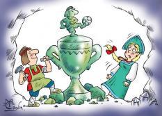 В Екатеринбурге открылась выставка футбольных карикатур