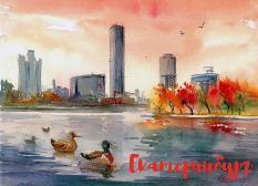 Свердловская художница стала автором официальных открыток к ЧМ-2018