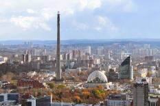 В Екатеринбурге прошел митинг против сноса недостроенной телебашни (фото)