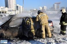 На Урале полицейские спасли спящего водителя