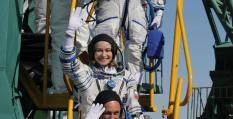 Первый киноэкипаж в истории космонавтики отправился на МКС