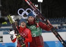 Российские лыжники завоевали серебро в командном спринте на Олимпиаде