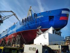 В России спустили на воду самый мощный ледокол в мире