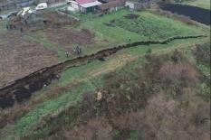 На Урале произошел 123-метровый оползень