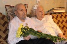 На Урале супружеская пара долгожителей отметила 200 лет на двоих