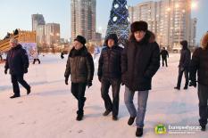 Высокинский проинспектировал предновогодний Екатеринбург (фото)