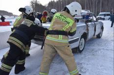 На ЕКАД прошли учения спасательных служб (фото)