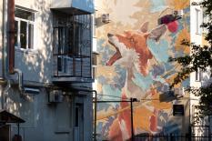 Рыжая лисица финского художника украсила улицы уральской столицы