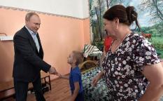 Путин пообещал мальчику из Тулуна восстановить «утонувший» детсад
