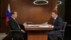 Дмитрий Медведев и Евгений Куйвашев обсудили развитие социальной сферы в регионе
