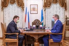 Губернаторская встреча: Куйвашев и Бурков договорились о развитии сотрудничества