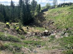 На территории кластера «Гора Белая» ликвидировали 15 незаконных свалок