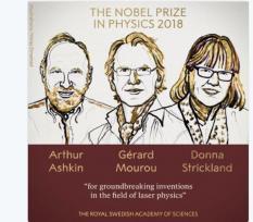 Нобелевскую премию по физике вручили за открытие в области лазерной оптики