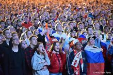 Матч Россия - Египет собрал 17,5 тыс. болельщиков в фан-зоне Екатеринбурга (фото)