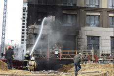 В Екатеринбурге полыхал ЖК «Квартал Федерация» (фото)