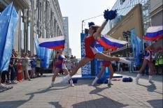 В центре уральской столицы начался обратный отсчет до Чемпионата мира по волейболу (фото)