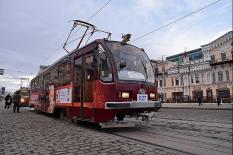 На улицы уральской столицы вышел музыкальный трамвай с Бетховеном (фото)