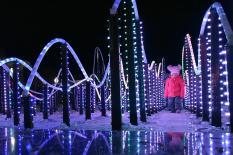 В Екатеринбурге заработал первый зимний фонтан (фото)