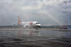 Аэропорт «Кольцово» принял первый Superjet (фото)