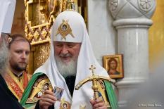 Патриарх Кирилл принимает участие в Царских днях (фото)