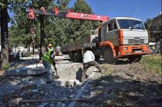 На Уралмаше идет реконструкция главного общественного пространства района (фото)
