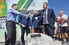 В Талице торжественно заложили камень в основание Центра бокса (фото)