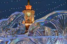 Ледовый городок уральской столицы закрыли из-за потепления