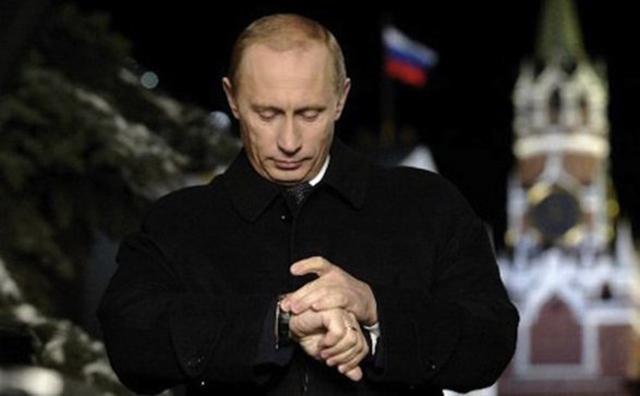 Президент России Владимир Путин поздравил россиян с наступлением нового, 2016 года