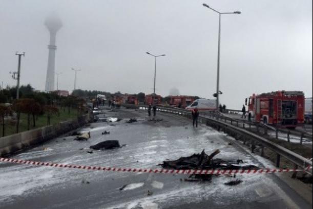 В Стамбуле разбился вертолёт с российскими гражданами