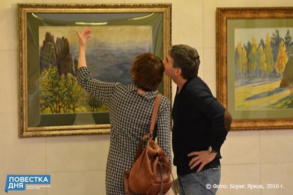 выставка лирического пейзажа Слюсарева