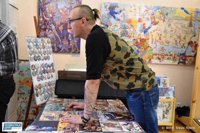 Уральцы заглянули в «Саквояж» питерских художников