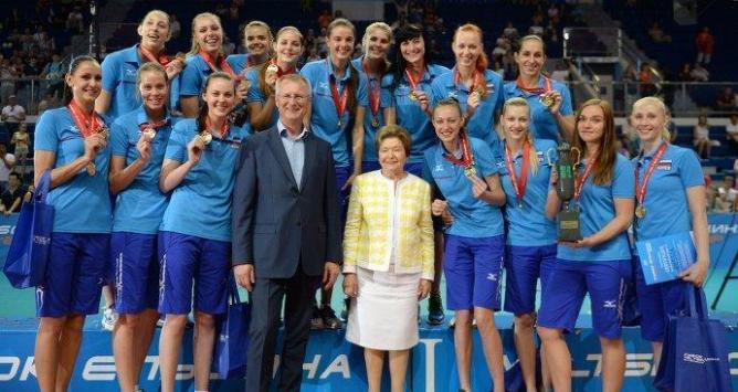 Российские волейболистки в 9-й раз выиграли турнир Ельцина