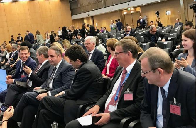Куйвашев презентовал Екатеринбург на сессии Генассамблее МБВ
