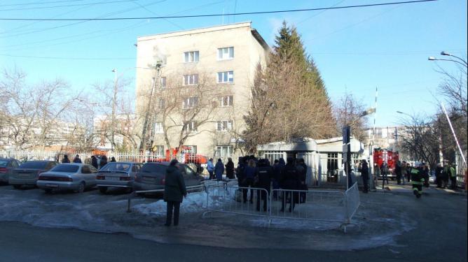 В здании УМВД Екатеринбурга произошёл пожар