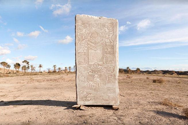 Портал 9GAG закопал в испанской пустыне плиту с мемами