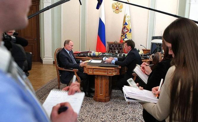 Встреча Владимира Путина и Алексея Гордеева